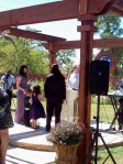 Jesus and Michelle, renewing vows on the Threshing Floor
