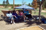 Tulsa Cheerleaders in the shade