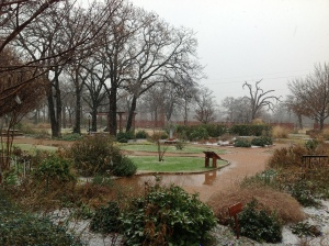 Prayer Garden in the Snow